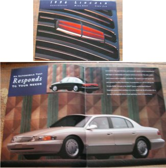 LINCOLN 1996 BROCHURE CONTINENTAL MK VIII TOWN CAR