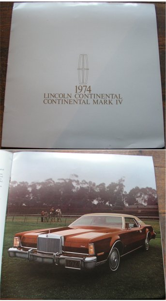 LINCOLN CONTINENTAL 1974 MARK IV PRESTIGE BROCHURE