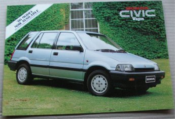 HONDA CIVIC 1986 WAGON SALES BROCHURE