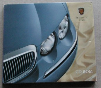 ROVER 75 SEVENTY FIVE 1999 CD ROM BROCHURE