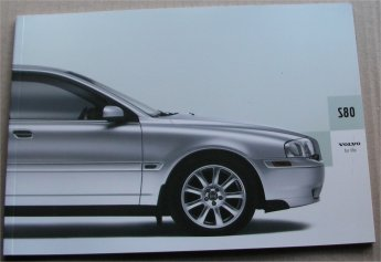 VOLVO S80 2004 SALES BROCHURE
