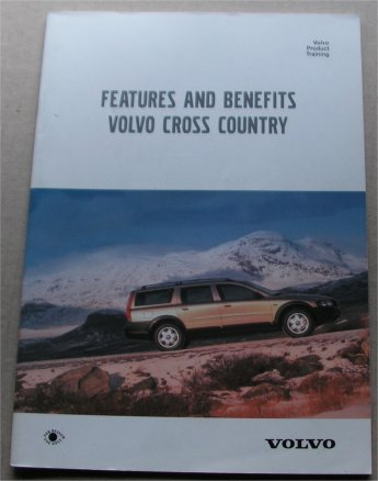 VOLVO CROSS COUNTRY 2000 PRODUCT TRAINING BROCHURE