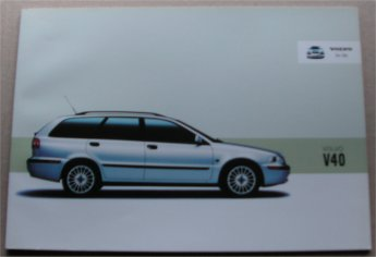 VOLVO V40 2002 SALES BROCHURE