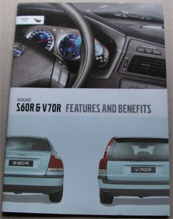 VOLVO S60R V70R 2002 FEATURES BENEFITS BROCHURE