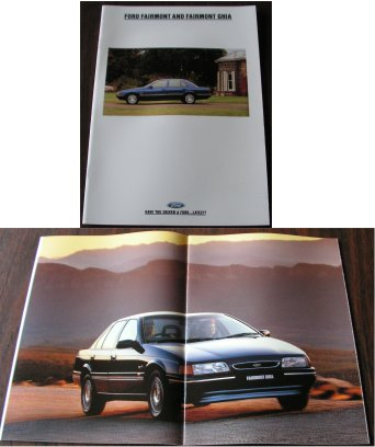 ED FORD FAIRMONT ED & GHIA 1993 NEW NOS SALES BROCHURE