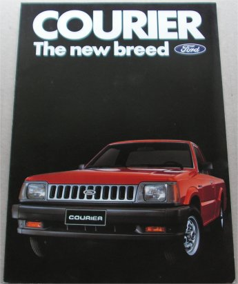 FORD COURIER 1985 1986 USA SALES BROCHURE