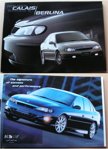 HOLDEN BERLINA CALAIS 2002 VX SERIES 2 BROCHURE HS