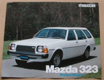 MAZDA 323 1978 WAGON SALES BROCHURE