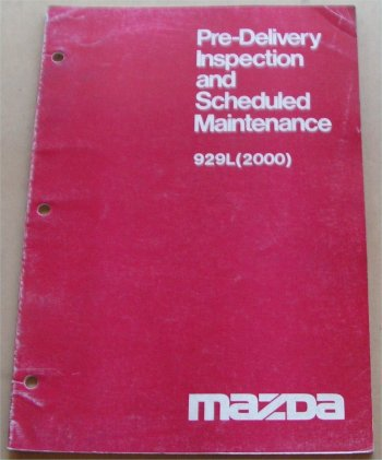 MAZDA 929L 1978 SCHEDULED MAINTENANCE MANUAL