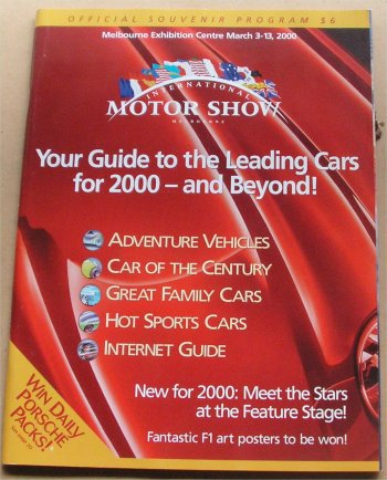 MELBOURNE 2000 MOTOR SHOW CATALOGUE