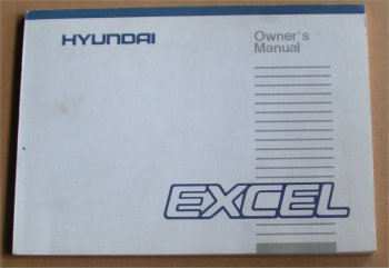 HYUNDAI EXCEL 1986 OWNERS MANUAL