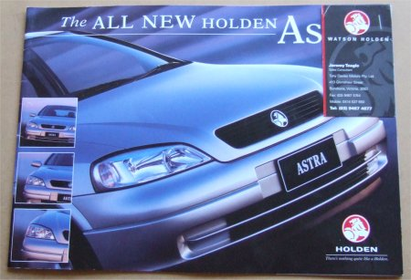 HOLDEN ASTRA 1999 SALES BROCHURE