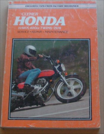 HONDA HAWK CB 400 TWIN 1978 WORKSHOP MANUAL