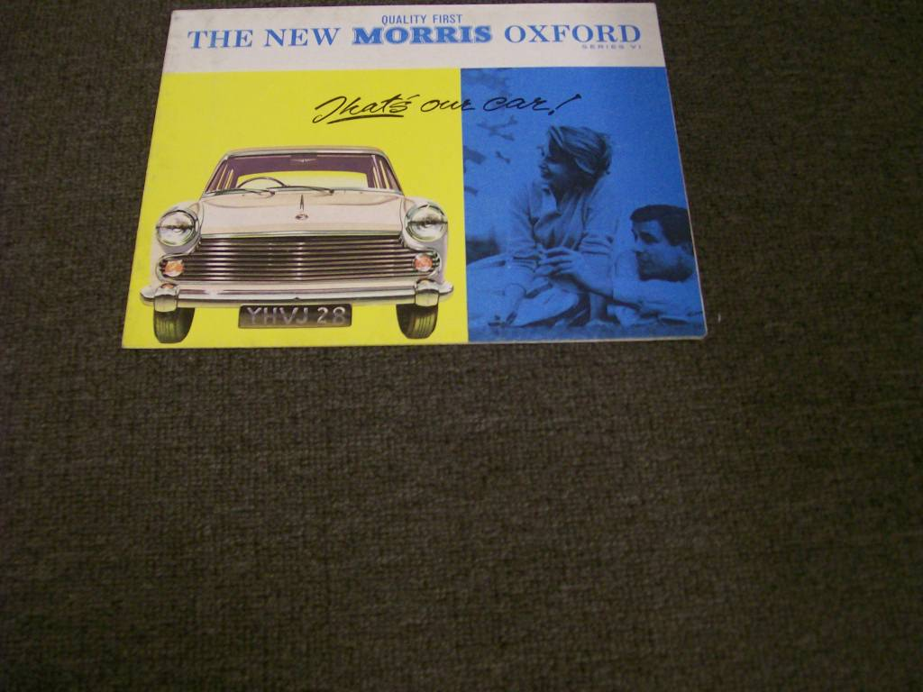 MORRIS OXFORD 1961 1962 SERIES VI SALES BROCHURE