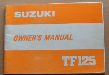 SUZUKI TF125 1981 1982 OWNERS MANUAL