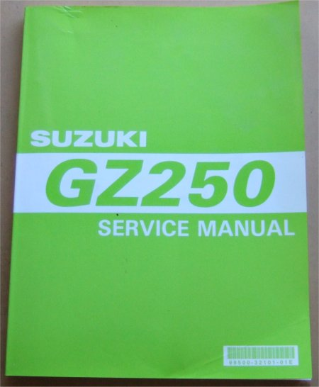 SUZUKI GZ250 FACTORY SERVICE MANUAL 1998 1999