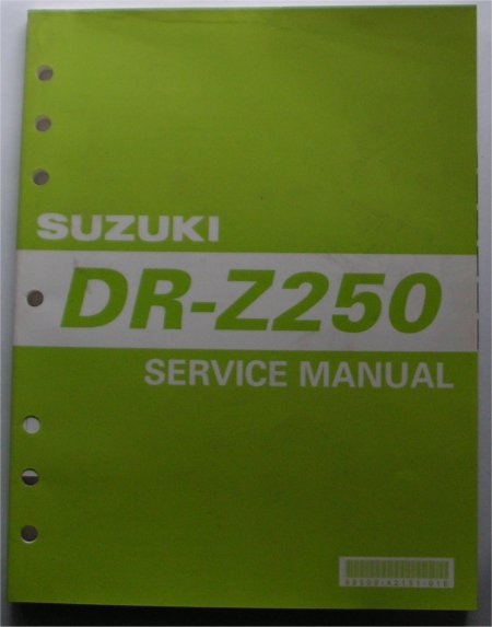 SUZUKI DR Z250 FACTORY SERVICE MANUAL