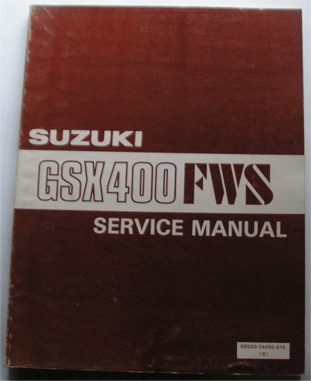 SUZUKI GSX400 FWS FACTORY SERVICE MANUAL
