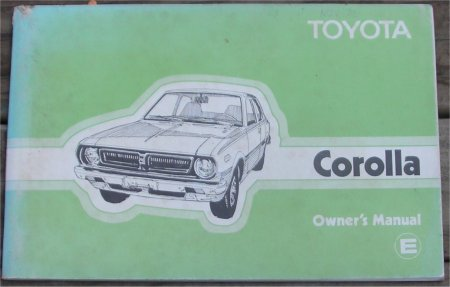 TOYOTA COROLLA 1976 -1979 OWNERS MANUAL