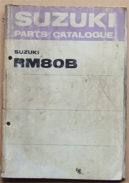 SUZUKI RM80B 1976 PARTS CATALOGUE