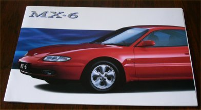 MAZDA MX6 1992 1993 AUSTRALIAN SALES BROCHURE MX-6