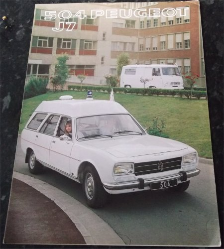 PEUGEOT 504 & J7 AMBULANCE SALES BROCHURE