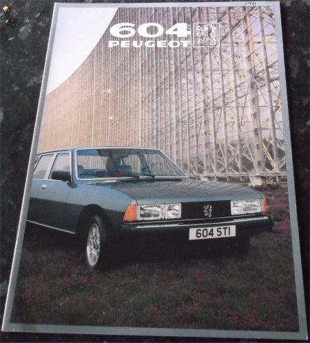 PEUGEOT 604 1981 SALES BROCHURE STI SRD TURBO