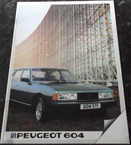 PEUGEOT 604 1983 SALES BROCHURE STI SRD TURBO