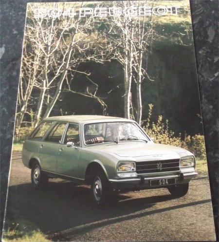 PEUGEOT 504 1977 WAGON SALES BROCHURE