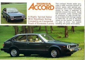 HONDA ACCORD 1978 ? SALES BROCHURE