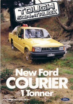 FORD COURIER 1985 SALES BROCHURE