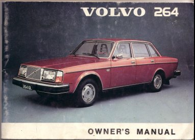 VOLVO 264 1974 OWNERS MANUAL