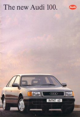 AUDI 100 1990 1991 SALES BROCHURE INCLUDES QUATTRO