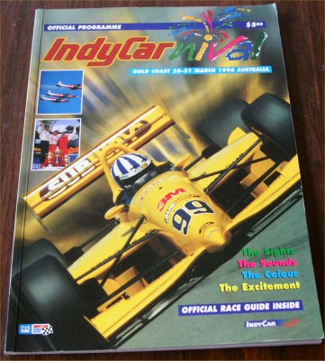 GOLD COAST 1996 INDYCAR PROGRAM