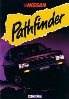 NISSAN PATHFINDER 1986 1987 SALES BROCHURE