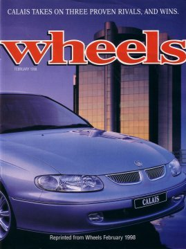 HOLDEN CALAIS 1998 VT WHEELS ROAD TEST REPRINT