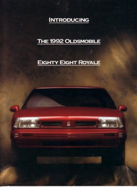 OLDSMOBILE 1992 EIGHTY EIGHT ROYAL SALES BROCHURE