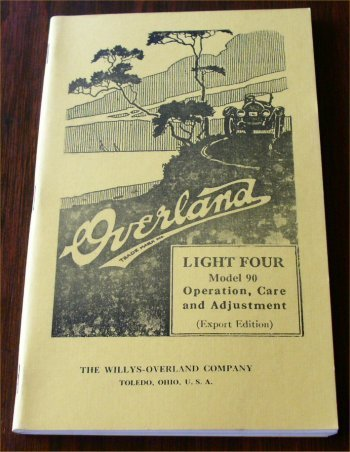 OVERLAND LIGHT FOUR MODEL 90 OWNERS MANUAL