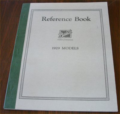 BUICK 1929 REPRINT REFERENCE BOOK