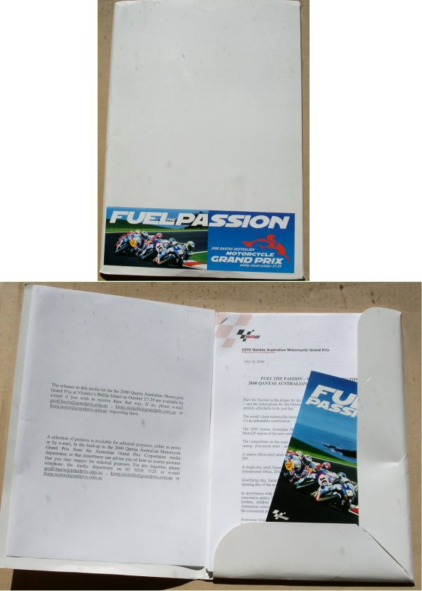 2000 AUSTRALIAN MOTORCYCLE GRAND PRIX MEDIA KIT