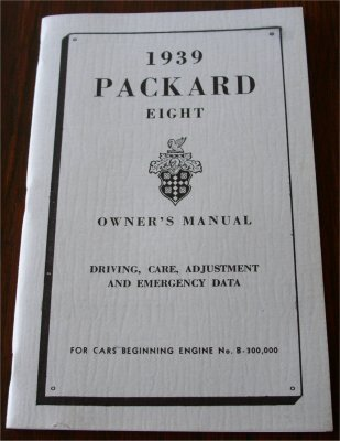 PACKARD 1939 OWNERS MANUAL
