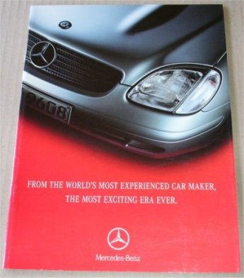 MERCEDES BENZ 1997 SALES BROCHURE