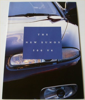 EUNOS 1994 500 V6 SALES BROCHURE