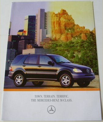 MERCEDES BENZ ML320 1998 SALES BROCHURE
