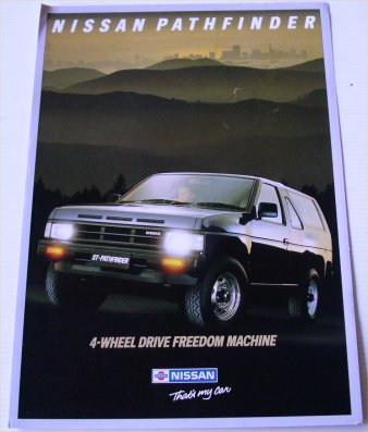 NISSAN PATHFINDER 1989 SALES BROCHURE