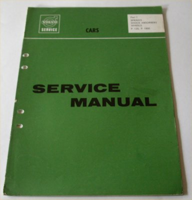 VOLVO P120 P1800 1965 SERVICE MANUAL SUSPENSION