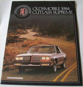 OLDSMOBILE 1984 CUTLASS SUPREME FRANCAIS BROCHURE