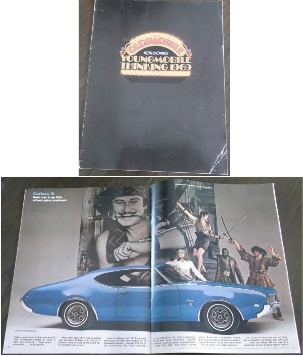 OLDSMOBILE 1969 BROCHURE 4-4-2 CUTLASS DELTA 88