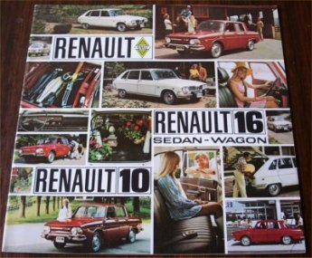 RENAULT R10 R16 1970 USA SALES BROCHURE