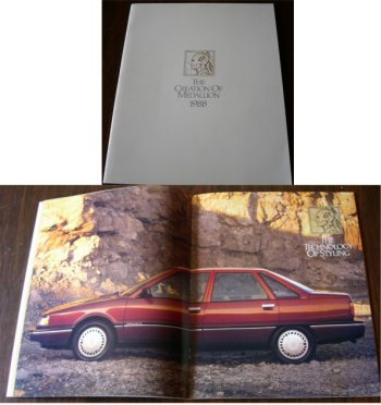 RENAULT MEDALLION 1988 SALES BROCHURE